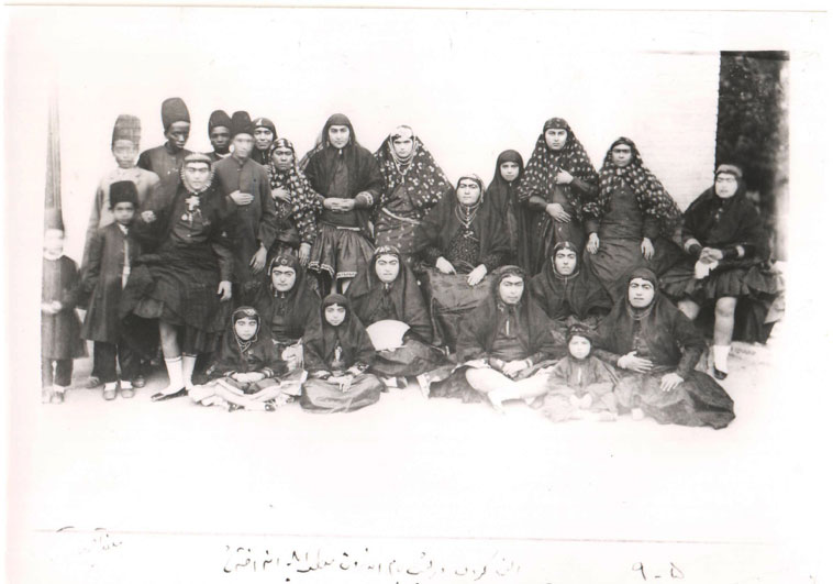 Fig 18. Harem women, children and servants. Gulistan Palace Visual Document Center, Tehran, Iran (210-5-3).