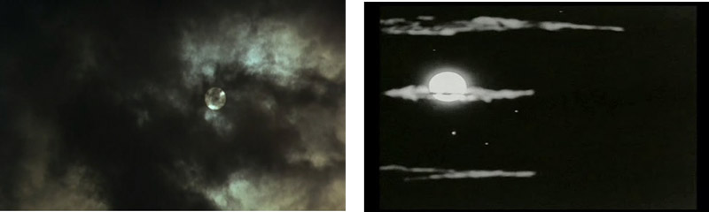 (Images 3 and 4: The obscured moon in Taste of Cherry and Un Chien Andalou)