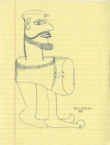 """Homa Katouzian,"" 8 March 1985, drawn in a lecture at UCLA."