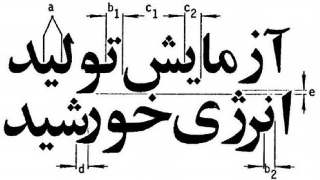 شکل ۲۶. برخی از مشکلات شناسایی متون چاپی فارسی.